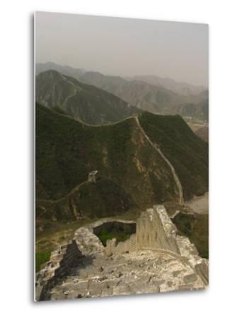 The Great Wall of China at the Juyongguan Pass-Richard Nowitz-Metal Print