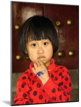 Portrait of a Chinese Girl-Richard Nowitz-Mounted Photographic Print