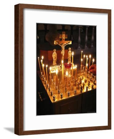 Candles are Lit at the Church of the Resurrection-Richard Nowitz-Framed Photographic Print