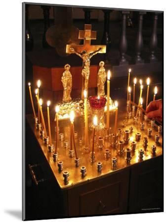 Candles are Lit at the Church of the Resurrection-Richard Nowitz-Mounted Photographic Print