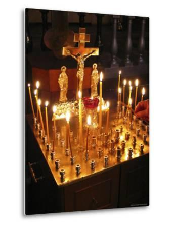 Candles are Lit at the Church of the Resurrection-Richard Nowitz-Metal Print