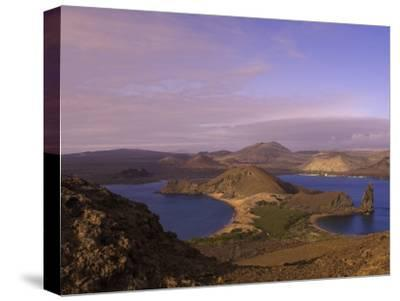 Scenic View of a Crater-Type Lake in the Galapagos Islands-Ralph Lee Hopkins-Stretched Canvas Print