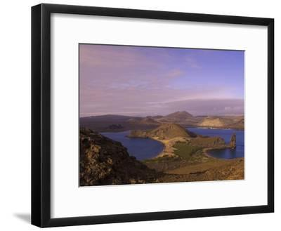 Scenic View of a Crater-Type Lake in the Galapagos Islands-Ralph Lee Hopkins-Framed Photographic Print