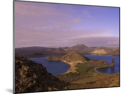 Scenic View of a Crater-Type Lake in the Galapagos Islands-Ralph Lee Hopkins-Mounted Photographic Print