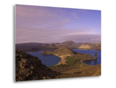 Scenic View of a Crater-Type Lake in the Galapagos Islands-Ralph Lee Hopkins-Metal Print