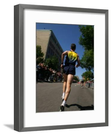 Marathon Runner-Skip Brown-Framed Photographic Print