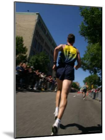 Marathon Runner-Skip Brown-Mounted Photographic Print