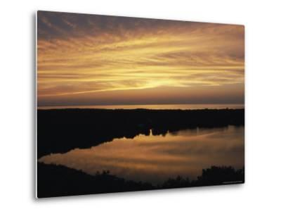 Sunset View of Ocean and Scargo Lake Looking North from Scargo Tower, the Highest Point on Cape Cod-Darlyne A^ Murawski-Metal Print