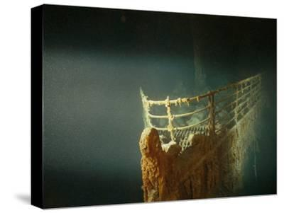 Rusted Prow of the R.M.S. Titanic Ocean Liner, Sunk off Newfoundland, North Atlantic Ocean--Stretched Canvas Print