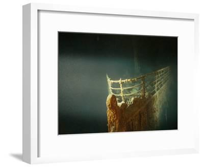 Rusted Prow of the R.M.S. Titanic Ocean Liner, Sunk off Newfoundland, North Atlantic Ocean--Framed Photographic Print