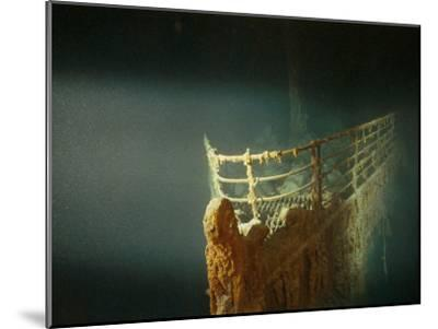 Rusted Prow of the R.M.S. Titanic Ocean Liner, Sunk off Newfoundland, North Atlantic Ocean--Mounted Photographic Print