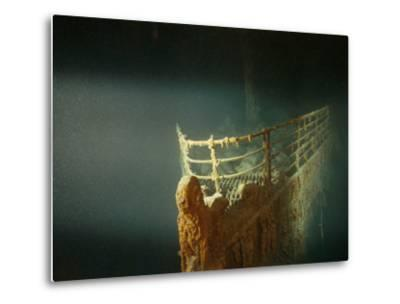 Rusted Prow of the R.M.S. Titanic Ocean Liner, Sunk off Newfoundland, North Atlantic Ocean--Metal Print