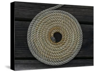 A Boat Rope Coiled in a Pattern to Avoid Tangling--Stretched Canvas Print
