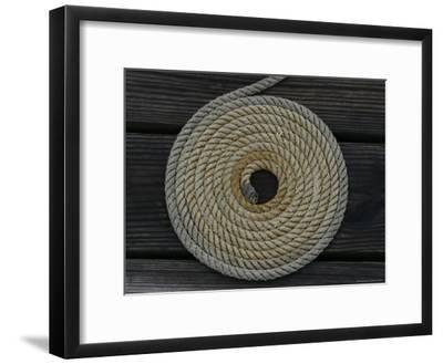 A Boat Rope Coiled in a Pattern to Avoid Tangling--Framed Photographic Print