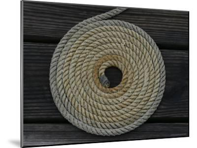 A Boat Rope Coiled in a Pattern to Avoid Tangling--Mounted Photographic Print