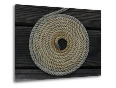 A Boat Rope Coiled in a Pattern to Avoid Tangling--Metal Print