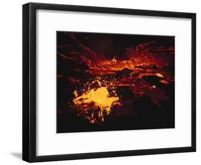 A Lake of Molten Lava Inside the Volcanos Crater-Peter Carsten-Framed Photographic Print