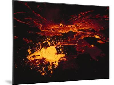 A Lake of Molten Lava Inside the Volcanos Crater-Peter Carsten-Mounted Photographic Print