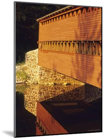 The Sachs Mill Bridge is Reflected in the Marsh River-Raymond Gehman-Mounted Photographic Print