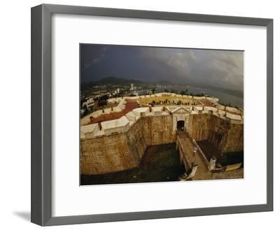Built as Five-Pointed Star of Defense for Acapulcos Inner Harbor, Fort San Diego Warded off Pirates-Sisse Brimberg-Framed Photographic Print