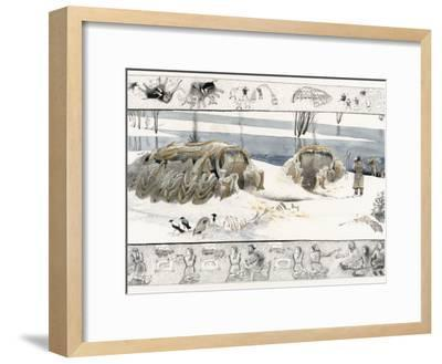 About 15,000 Years Ago Ice Age People Constructed Mammoth-Bone Shelters on the East European Plain-Jack Unruh-Framed Photographic Print