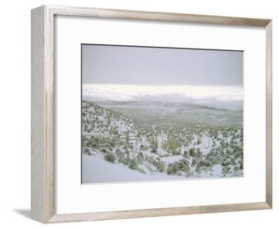 Snow Covers the Desert and Mountains near Pioche, Nevada-Sam Abell-Framed Photographic Print