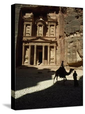 Pharaoh's Treasury, Petra, Jordan-James L^ Stanfield-Stretched Canvas Print