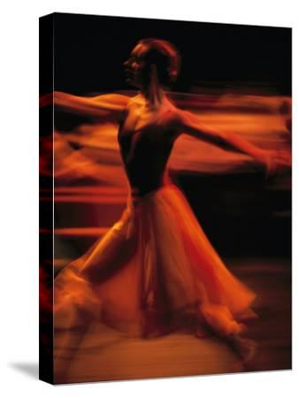 Portrait of a Ballet Dancer Bathed in Red Light, Nairobi, Kenya-Michael Nichols-Stretched Canvas Print
