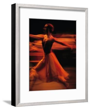 Portrait of a Ballet Dancer Bathed in Red Light, Nairobi, Kenya-Michael Nichols-Framed Photographic Print