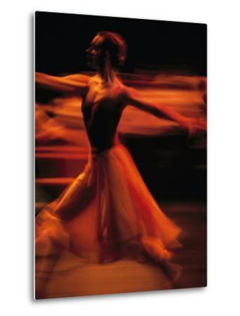 Portrait of a Ballet Dancer Bathed in Red Light, Nairobi, Kenya-Michael Nichols-Metal Print