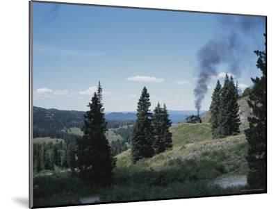 A Steam Engine Chugs into La Manga Pass in Colorado-Taylor S^ Kennedy-Mounted Photographic Print