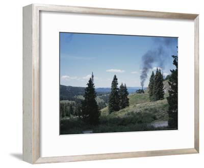 A Steam Engine Chugs into La Manga Pass in Colorado-Taylor S^ Kennedy-Framed Photographic Print