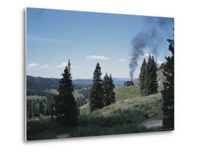 A Steam Engine Chugs into La Manga Pass in Colorado-Taylor S^ Kennedy-Metal Print