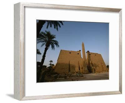 A View of the Exterior of a Temple at Luxor-Kenneth Garrett-Framed Photographic Print