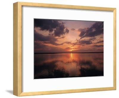 A Sunset in Los Llanos, Venezuela-Ed George-Framed Photographic Print