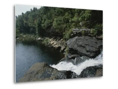 Water Flows Swiftly Through a Rocky Gorge into a Calm Pool-Medford Taylor-Metal Print