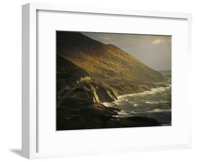 The Cabot Trail Winds its Way Along the Gulf of St. Lawrence-Raymond Gehman-Framed Photographic Print