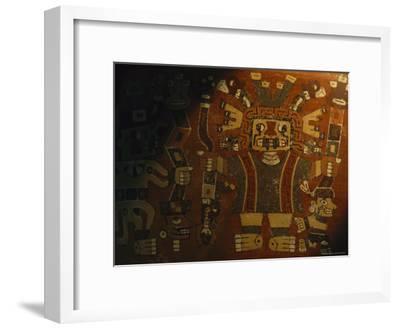 A Piece of Wari Pottery Depicting the Staff God-Kenneth Garrett-Framed Photographic Print