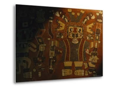 A Piece of Wari Pottery Depicting the Staff God-Kenneth Garrett-Metal Print