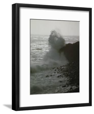 A Wave Splashes on the Shore of Tristan Da Cunha Island-James P^ Blair-Framed Photographic Print