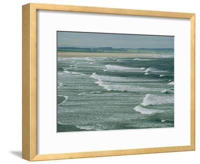 Surf at the North End of Lindisfarne, England-Sisse Brimberg-Framed Photographic Print