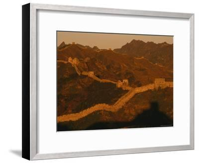 The Jinshaling Section of the Great Wall at the Beijing-Hebei Border-Raymond Gehman-Framed Photographic Print