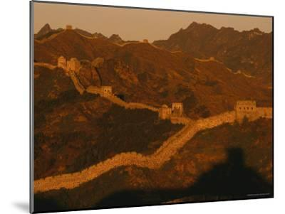 The Jinshaling Section of the Great Wall at the Beijing-Hebei Border-Raymond Gehman-Mounted Photographic Print