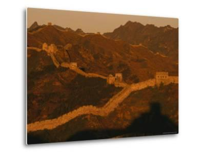 The Jinshaling Section of the Great Wall at the Beijing-Hebei Border-Raymond Gehman-Metal Print