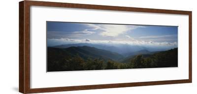 The Sun Breaks Through the Clouds Along the Cherohala Skyway-Stephen Alvarez-Framed Photographic Print