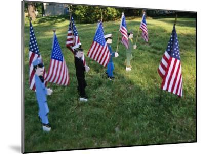 Patriotic Lawn Ornaments Represent the Varied Armed Forces of the U.S.-Stephen St^ John-Mounted Photographic Print