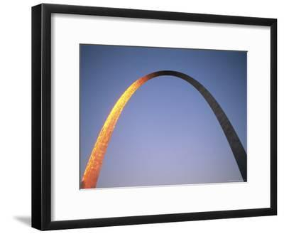 Sunlight Beams on the Gateway Arch in Saint Louis-Joel Sartore-Framed Photographic Print