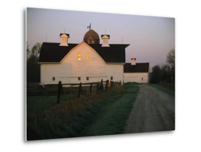 Historic Stevens Creek Farm Near Lincoln, Nebraska-Joel Sartore-Metal Print