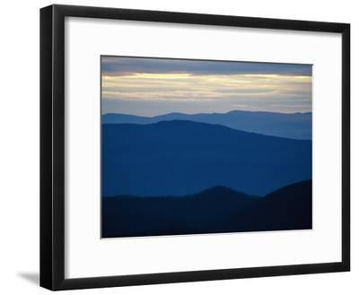 Twilight View of the Blue Ridge Mountains from Big Meadows-Raymond Gehman-Framed Photographic Print