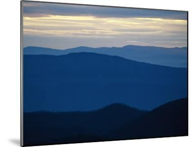 Twilight View of the Blue Ridge Mountains from Big Meadows-Raymond Gehman-Mounted Photographic Print